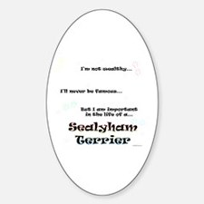 Sealyham Life Oval Decal