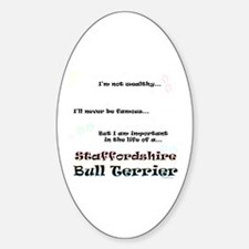 Staffy Life Oval Decal