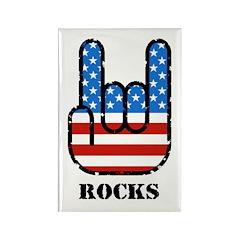 United States Rocks Rectangle Magnet