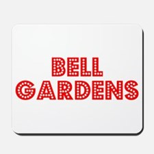 Retro Bell Gardens (Red) Mousepad