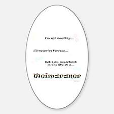 Weimaraner Life Oval Decal