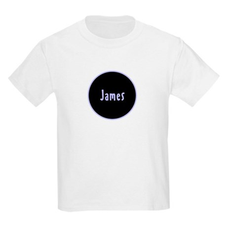 James - Blue Name Circle Kids Light T-Shirt