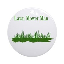 Lawn Mower Man Ornament (Round)
