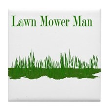 Lawn Mower Man Tile Coaster