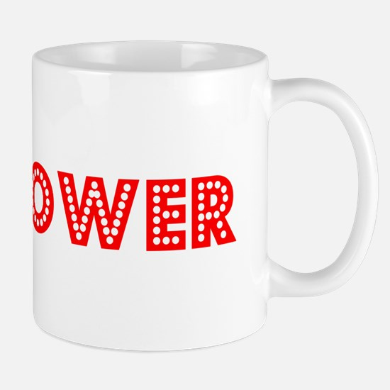 Retro Bellflower (Red) Mug