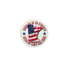 Patriotic Minnesota Mini Button