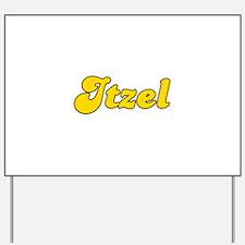 Retro Itzel (Gold) Yard Sign