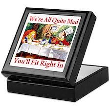 WE'RE ALL QUITE MAD Keepsake Box