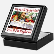 WE'RE ALL QUITE MAD Keepsake Box