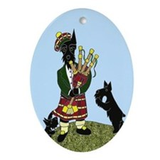Scottish Bagpiper Keepsake (Oval)
