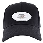 Koran Quote Black Cap