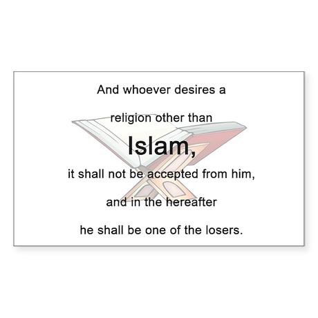 Koran Quote Rectangle Sticker