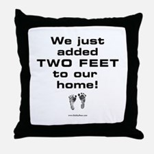 Two Feet... Throw Pillow
