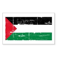 Vintage Palestine Rectangle Decal