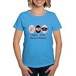 Peace Love Police Officer Women's Dark T-Shirt