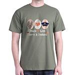 Peace Love Police Officer Dark T-Shirt