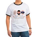Peace Love Police Officer Ringer T
