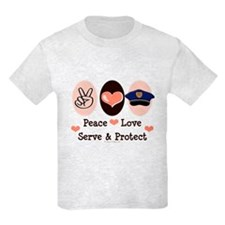 Peace Love Police Officer T-Shirt