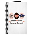 Peace Love Police Officer Journal