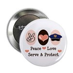 Peace Love Police Officer 2.25