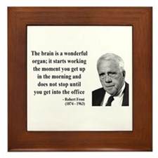 Robert Frost Quote 7 Framed Tile