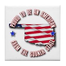 Patriotic Oklahoma Tile Coaster