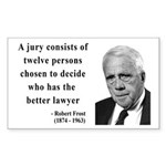 Robert Frost Quote 6 Rectangle Sticker