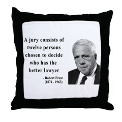 Robert Frost Quote 6 Throw Pillow