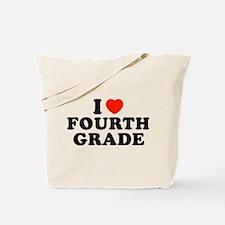 I Heart/Love Fourth Grade Tote Bag
