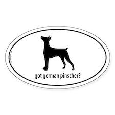 Got German Pinscher? Oval Decal