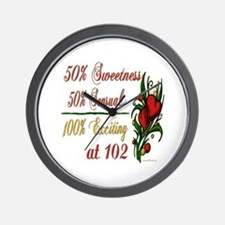 Exciting 102nd Wall Clock