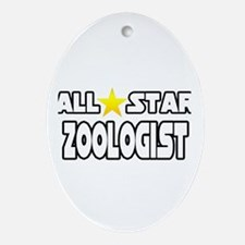"""All Star Zoologist"" Oval Ornament"
