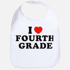 I Heart/Love Fourth Grade Bib