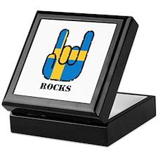 Sweden Rocks Keepsake Box