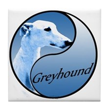 Greyhound YinYang Tile Coaster