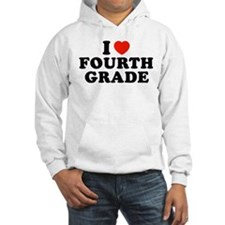 I Heart/Love Fourth Grade Hoodie