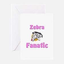 Zebra Fanatic Greeting Cards (Pk of 10)