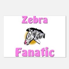 Zebra Fanatic Postcards (Package of 8)