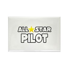 """All Star Pilot"" Rectangle Magnet"