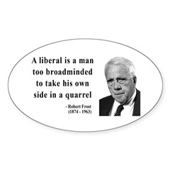 Robert Frost Quote 5 Oval Decal