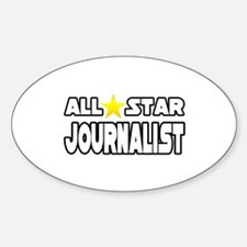 """All Star Journalist"" Oval Decal"