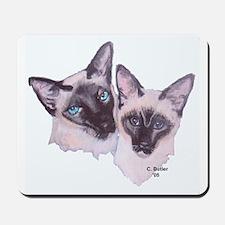 Siamese - 2 (white background) Mousepad