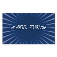 Rectangle Sticker 50 pk): AS ABOVE SO BELOW: Wicc