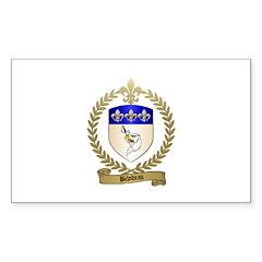 BILODEAU Family Crest Rectangle Sticker