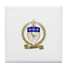 BILODEAU Family Crest Tile Coaster