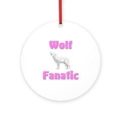 Wolf Fanatic Ornament (Round)
