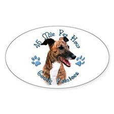 Brindle Couch Oval Decal