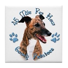 Brindle Couch Tile Coaster