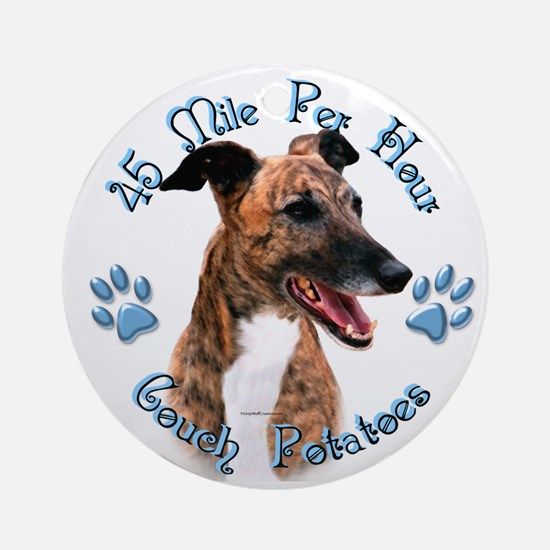 Brindle Couch Ornament (Round)