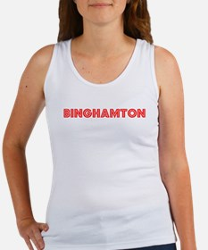 Retro Binghamton (Red) Women's Tank Top